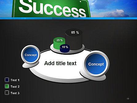 Success Green Waymark PowerPoint Template Slide 13