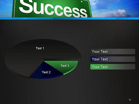 Success Green Waymark PowerPoint Template Slide 14