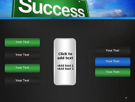 Success Green Waymark PowerPoint Template Slide 16