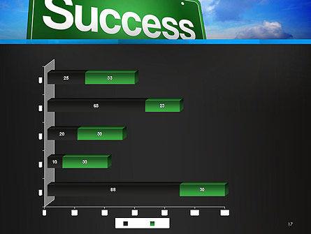 Success Green Waymark PowerPoint Template Slide 17