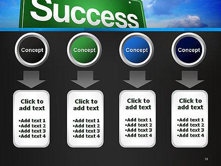 Success Green Waymark PowerPoint Template Slide 18