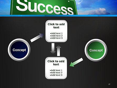 Success Green Waymark PowerPoint Template Slide 19