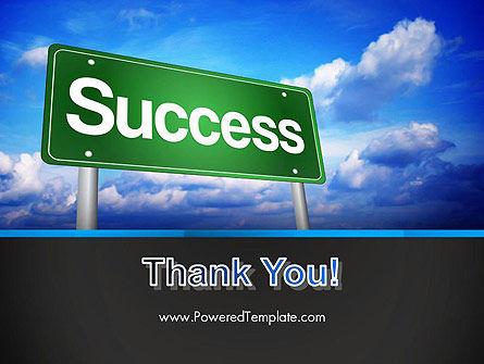 Success Green Waymark PowerPoint Template Slide 20