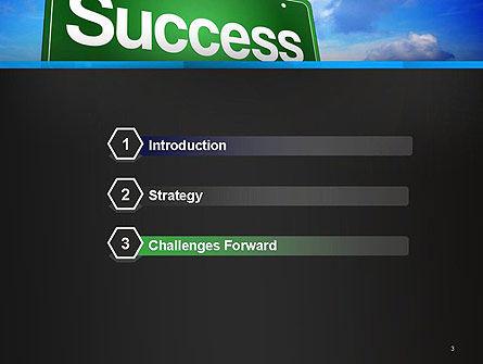 Success Green Waymark PowerPoint Template, Slide 3, 14423, Business Concepts — PoweredTemplate.com