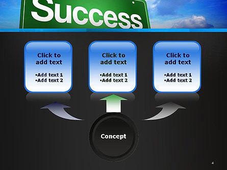 Success Green Waymark PowerPoint Template, Slide 4, 14423, Business Concepts — PoweredTemplate.com