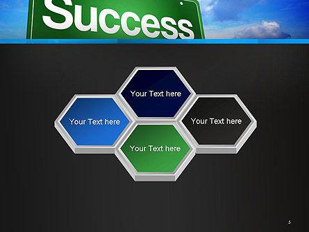 Success Green Waymark PowerPoint Template Slide 5