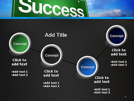 Success Green Waymark PowerPoint Template Slide 6