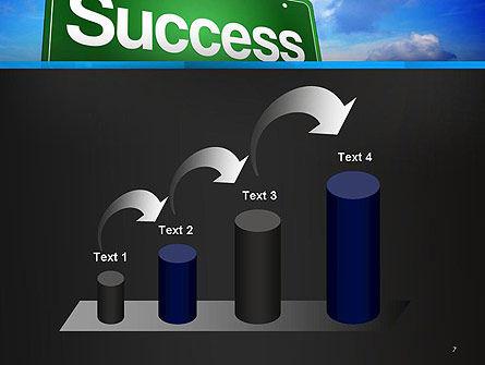 Success Green Waymark PowerPoint Template Slide 7