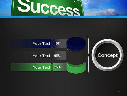 Success Green Waymark PowerPoint Template Slide 8