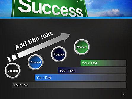 Success Green Waymark PowerPoint Template Slide 9