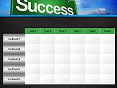 Success Green Waymark PowerPoint Template#15