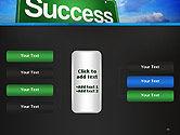 Success Green Waymark PowerPoint Template#16