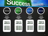 Success Green Waymark PowerPoint Template#18