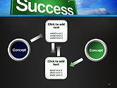 Success Green Waymark PowerPoint Template#19