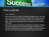 Success Green Waymark PowerPoint Template#2