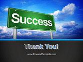 Success Green Waymark PowerPoint Template#20