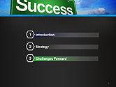Success Green Waymark PowerPoint Template#3