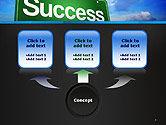 Success Green Waymark PowerPoint Template#4
