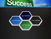 Success Green Waymark PowerPoint Template#5