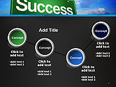 Success Green Waymark PowerPoint Template#6