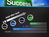 Success Green Waymark PowerPoint Template#9