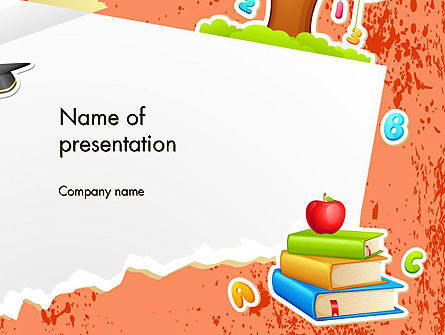 School Theme Background PowerPoint Template, 14424, Education & Training — PoweredTemplate.com