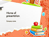 Education & Training: School Theme Background PowerPoint Template #14424