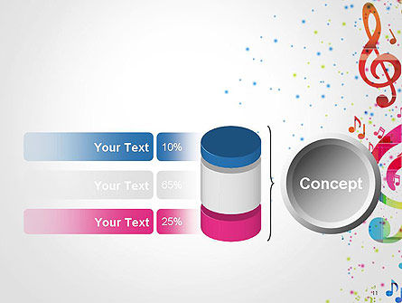 Falling Colorful Music Notes PowerPoint Template Slide 11