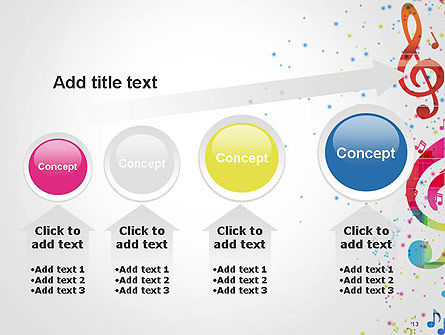 Falling Colorful Music Notes PowerPoint Template Slide 13