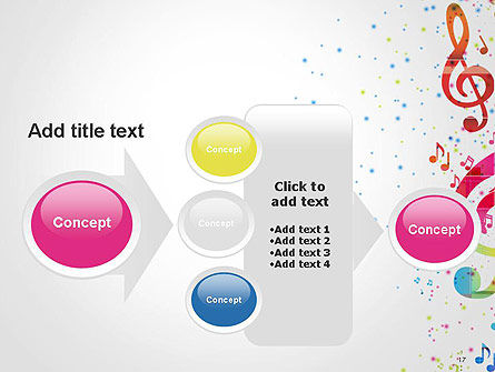 Falling Colorful Music Notes PowerPoint Template Slide 17