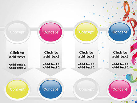 Falling Colorful Music Notes PowerPoint Template Slide 18