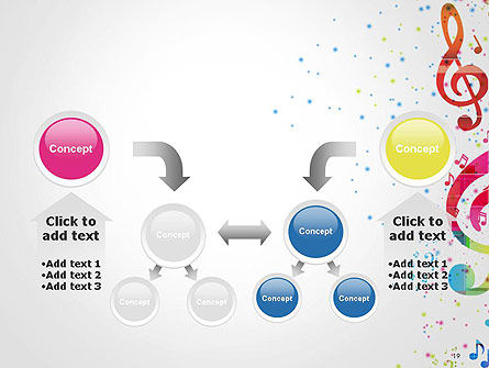 Falling Colorful Music Notes PowerPoint Template Slide 19
