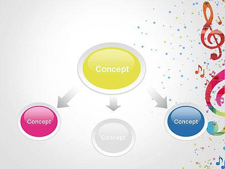 Falling Colorful Music Notes PowerPoint Template, Slide 4, 14425, Art & Entertainment — PoweredTemplate.com