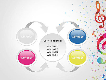 Falling Colorful Music Notes PowerPoint Template Slide 6