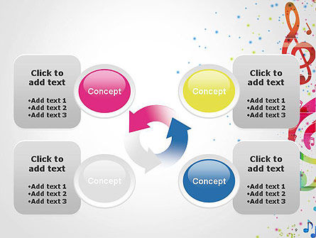 Falling Colorful Music Notes PowerPoint Template Slide 9