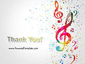 Falling Colorful Music Notes PowerPoint Template#20