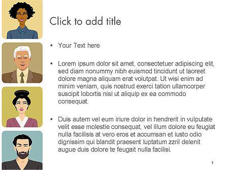 Avatars in Cartoon Style PowerPoint Template, Slide 3, 14427, People — PoweredTemplate.com