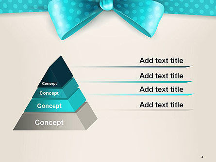 Blue Ribbons and Bows Frame PowerPoint Template, Slide 4, 14428, Holiday/Special Occasion — PoweredTemplate.com