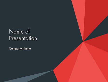 Abstract Triangles PowerPoint Template, 14429, Abstract/Textures — PoweredTemplate.com