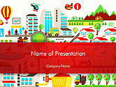 Nature & Environment: Colorful Ecology Infographic Background PowerPoint Template #14432