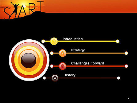 Start Concept on Sunset Silhouette PowerPoint Template, Slide 3, 14434, Careers/Industry — PoweredTemplate.com