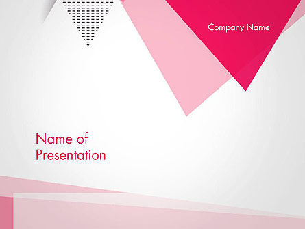 Abstract/Textures: Abstract Pink Flat Triangles PowerPoint Template #14435