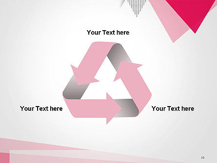 Abstract Pink Flat Triangles PowerPoint Template Slide 10
