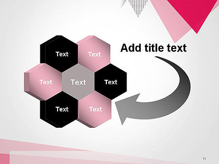 Abstract Pink Flat Triangles PowerPoint Template Slide 11
