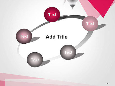 Abstract Pink Flat Triangles PowerPoint Template Slide 14