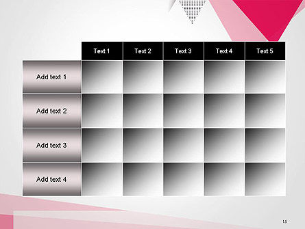 Abstract Pink Flat Triangles PowerPoint Template Slide 15
