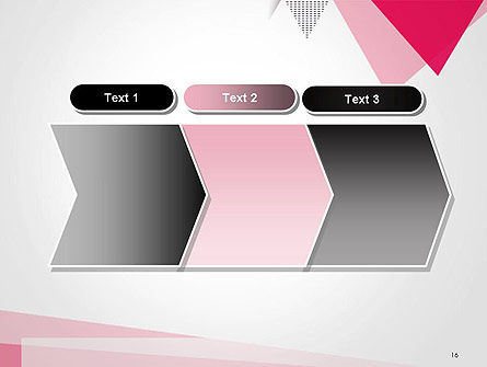 Abstract Pink Flat Triangles PowerPoint Template Slide 16