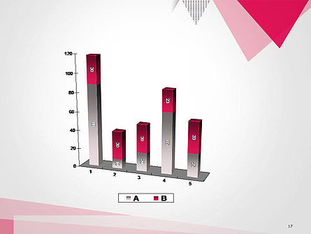 Abstract Pink Flat Triangles PowerPoint Template Slide 17