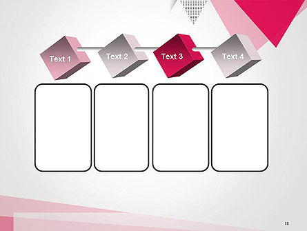 Abstract Pink Flat Triangles PowerPoint Template Slide 18