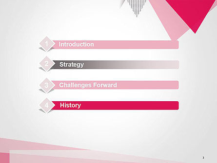 Abstract Pink Flat Triangles PowerPoint Template, Slide 3, 14435, Abstract/Textures — PoweredTemplate.com